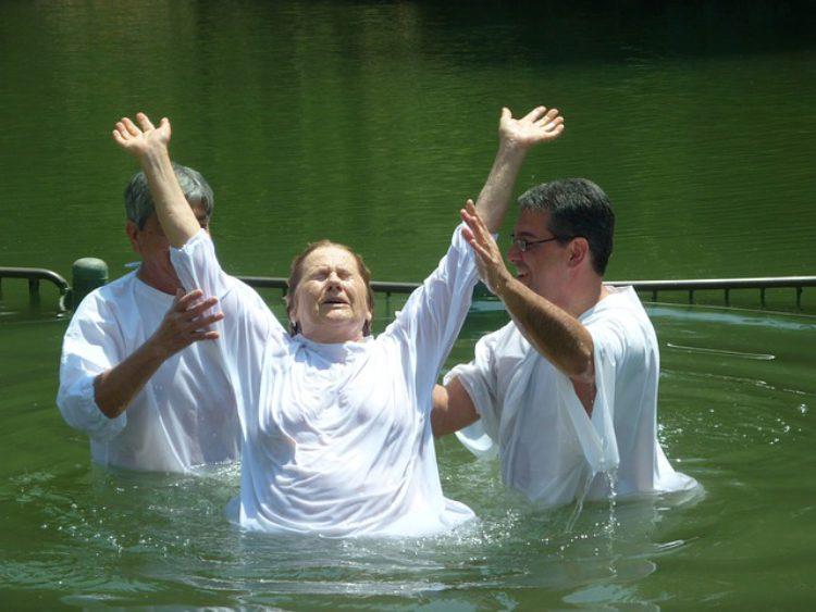 Крещение в реке Иордан, Израиль