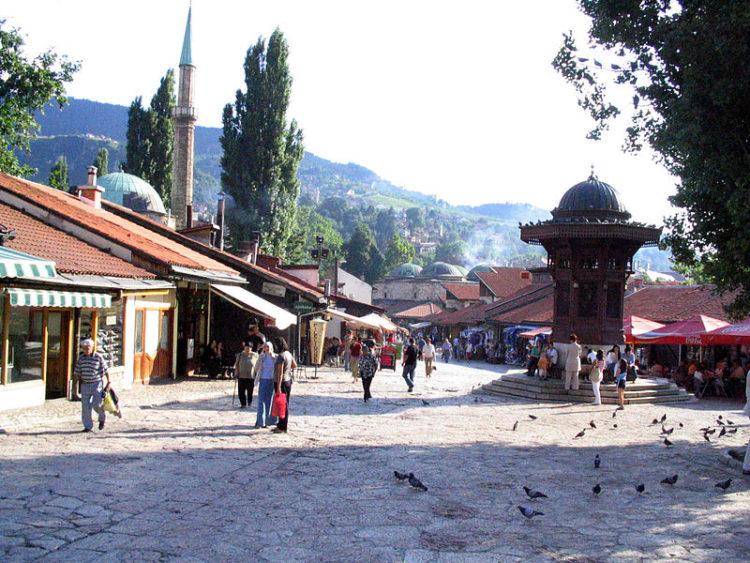 Площадь Башчаршия - достопримечательности Боснии и Герцеговины