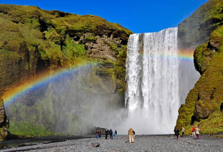 Водопад Скогафосс - достопримечательности Исландии