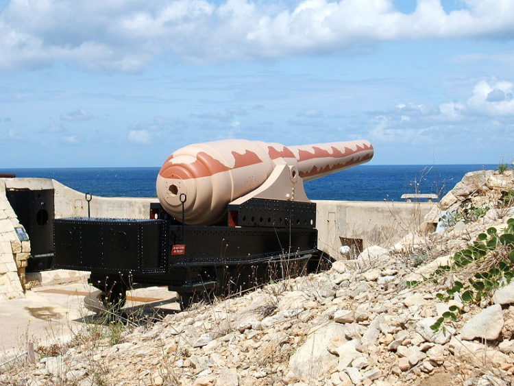 Пушка «Армстронг» - достопримечательности Мальты