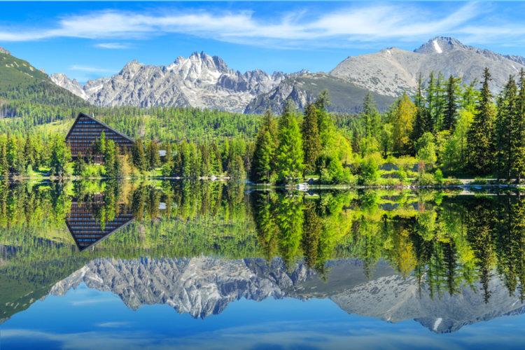 Озеро Штрбске-Плесо - достопримечательности Словакии