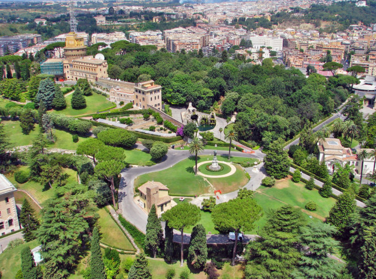 Ватиканские сады - достопримечательности Ватикана