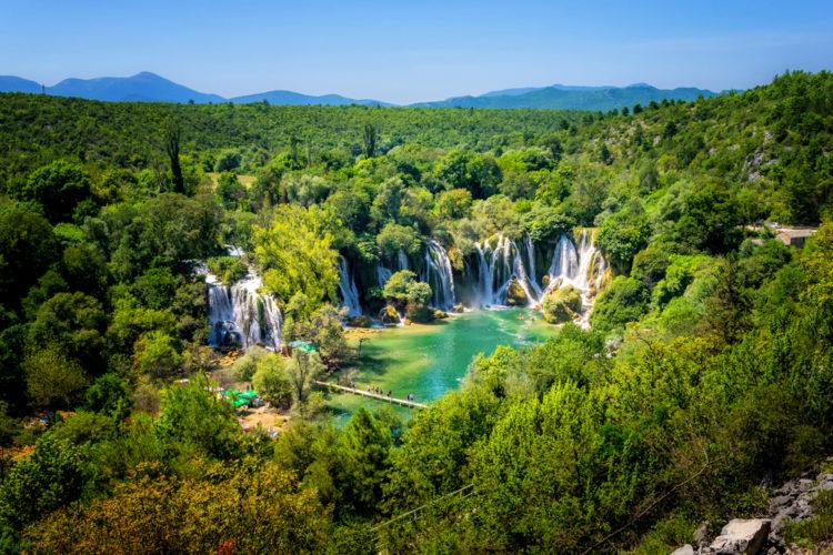 Водопад Кравице - достопримечательности Боснии и Герцеговины