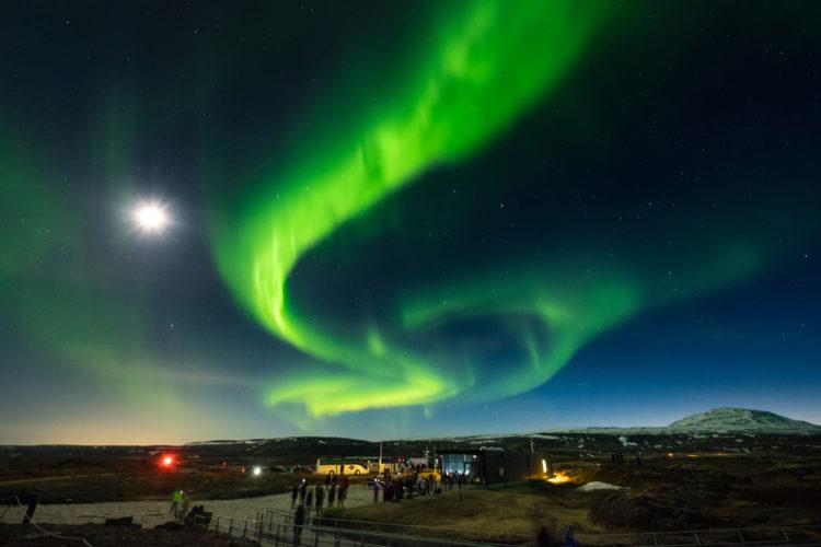 Северное сияние - достопримечательности Исландии