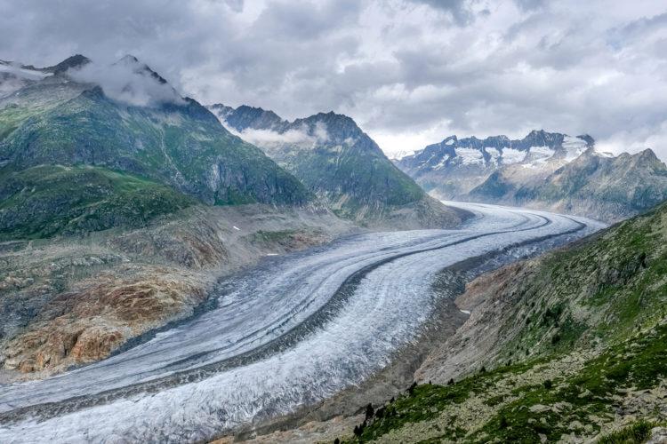 Большой Алечский ледник - достопримечательности Швейцарии