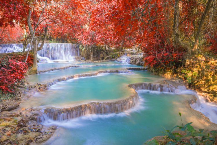 Водопад Тат Куанг Си - Что посмотреть в Лаосе