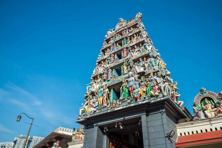 Храм Шри Мариамман - достопримечательности Сингапура