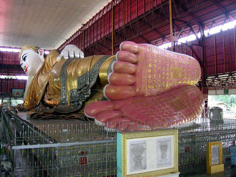 Пагода Чаутаджи (Лежачий Будда) - достопримечательности Мьянмы