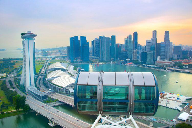 Колесо обозрения (Singapore Flyer) - достопримечательности Сингапура