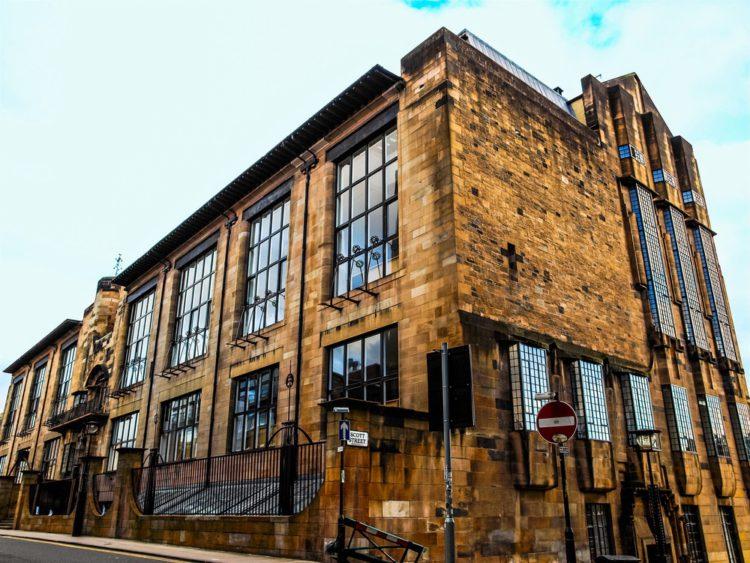 Школа искусств Глазго - достопримечательности Глазко