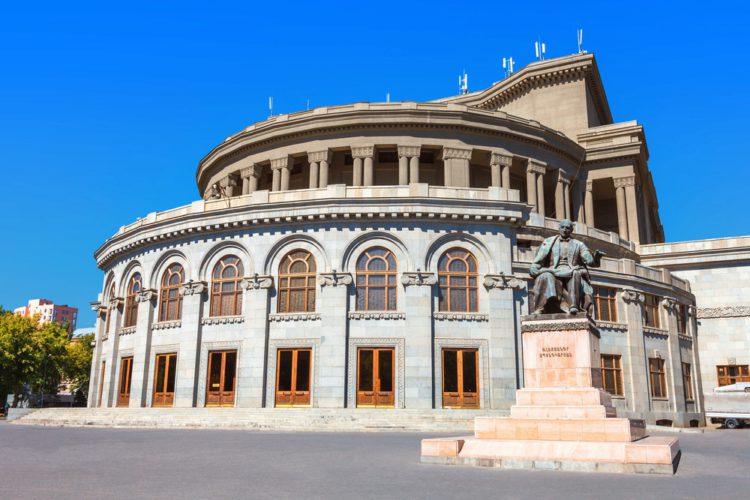 Армянский театр оперы и балета - достопримечательности Еревана