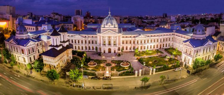 Здание больницы Колтеа - достопримечательности Бухареста