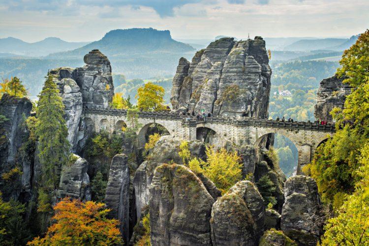 Мост Бастай - достопримечательности Дрездена