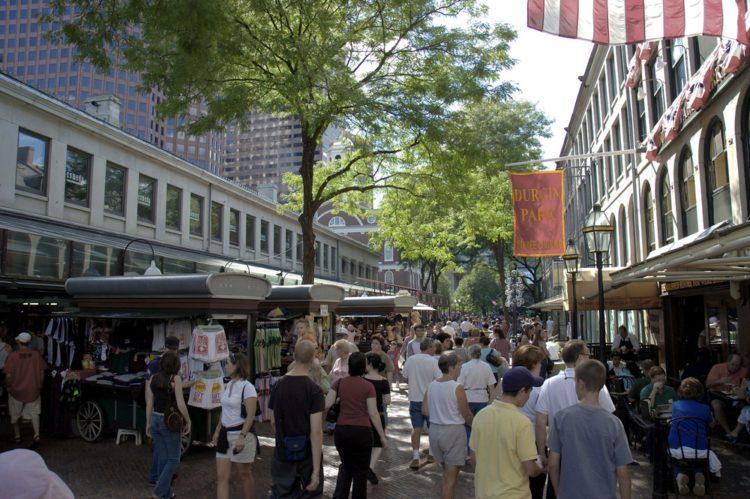 Квинси-маркет - достопримечательности Бостона