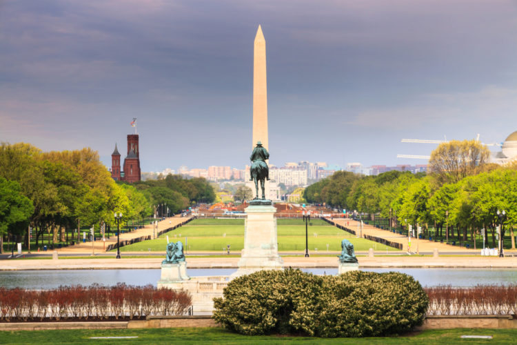 Национальная аллея - достопримечательности Вашингтона
