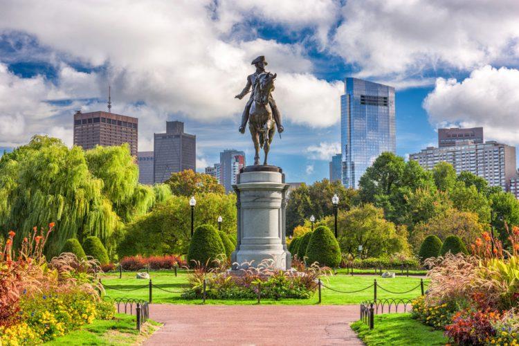 Общественный сад - достопримечательности Бостона