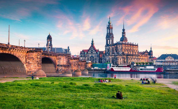 Терраса Брюля - достопримечательности Дрездена