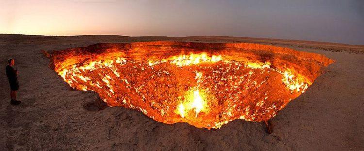 Газовый кратер Дарваза - достопримечательности Туркмении