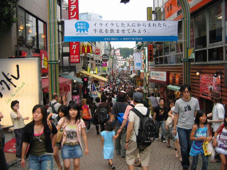 Улочка Такесита-дори или Харадзюку - достопримечательности Токио