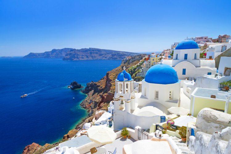 Самые красивые места земли - остров Санторини, Греция