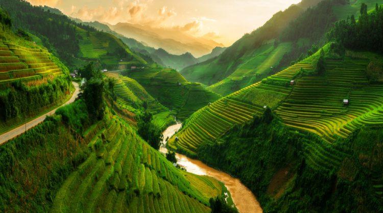 Самые красивые места мира - рисовые террасы в Му Кан Чай, Вьетнам