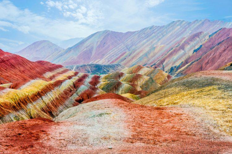Самые красивые места мира - Цветные скалы Чжанъе Данксиа, Китай