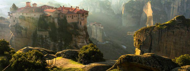 Самые красивые места земли - монастырский комплекс Метеоры, Греция