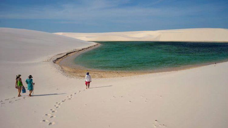 Самые красивые места мира - национальный парк Ленсойc-Мараньенсес, Бразилия