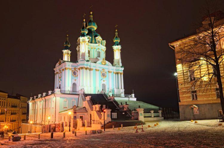 Андреевская церковь - достопримечательности Киева