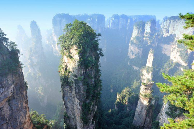Самые красивые места земли - Горы Тяньцзи, Китай