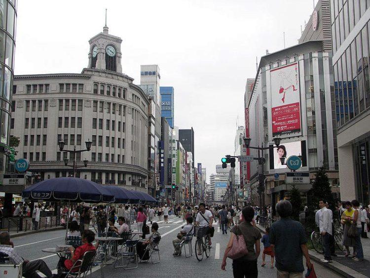 Гинза - достопримечательности Токио