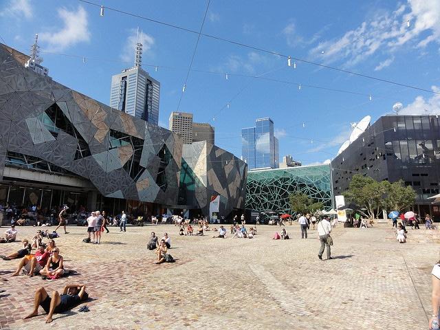 Площадь Федерации - достопримечательности Мельбурна