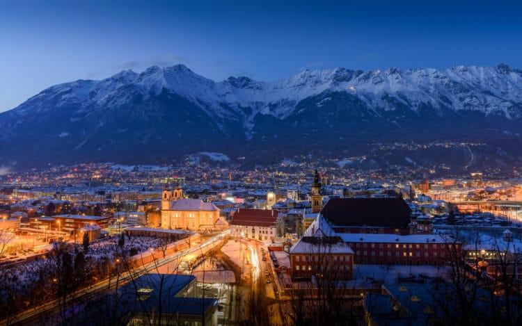 Самые красивые города Европы - Инсбрук. Австрия