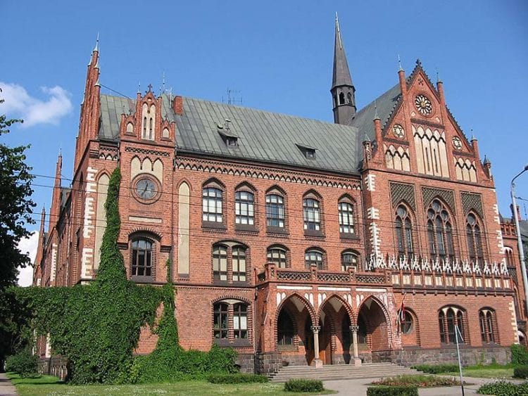 Здание Латвийской Академии художеств - достопримечательности Риги