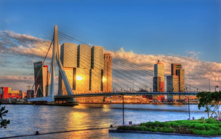 Мост Эразма - достопримечательности Роттердама