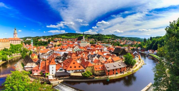 Самые красивые города Европы - Чески-Крумлов. Чехия