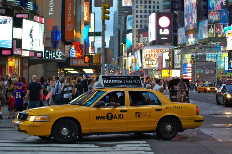 Такси Нью-Йорка - достопримечательности Нью-Йорка