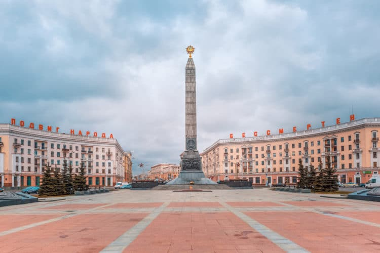 Площадь Победы - достопримечательности Минска