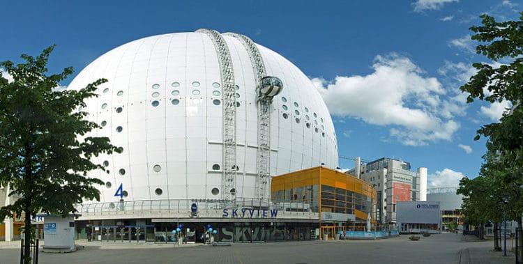 Глобен Арена - достопримечательности Стокгольма
