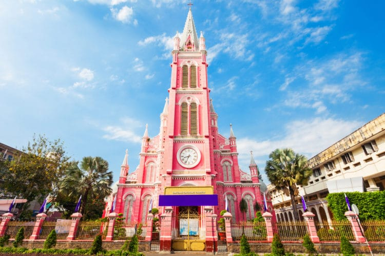 Церковь Тан Динь - достопримечательности Хошимина