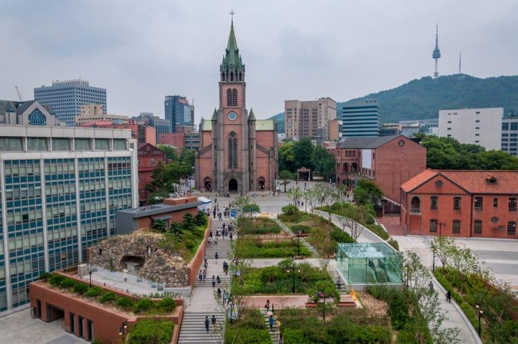 Собор Мёндон - достопримечательности Сеула