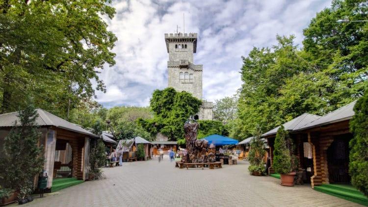 Смотровая башня на горе Ахун - достопримечательности Сочи