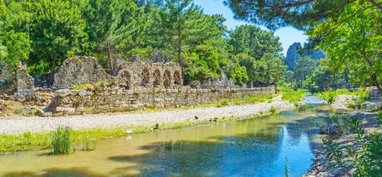 Древний город Олимпос - достопримечательности Кемера