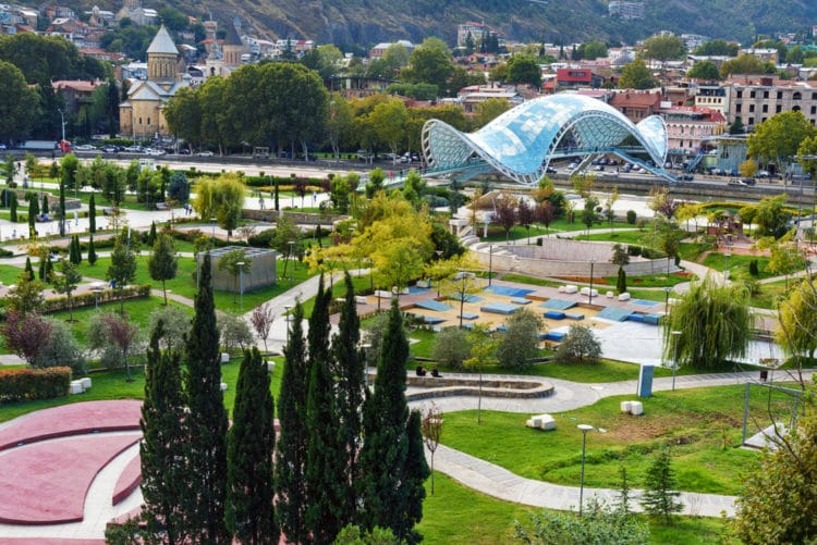 Парк Рике - достопримечательности Тбилиси