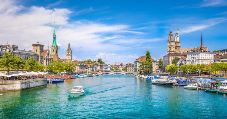 Река Лиммат - достопримечательности Цюриха