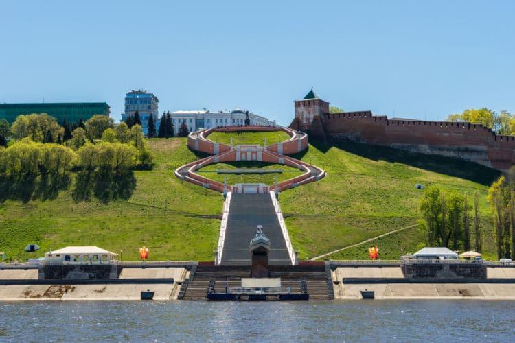 Чкаловская лестница - достопримечательности Нижнего Новгорода