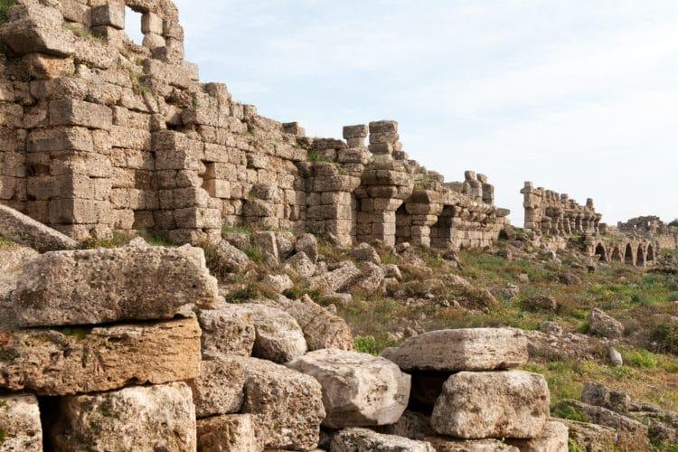Городские стены - достопримечательности Сиде
