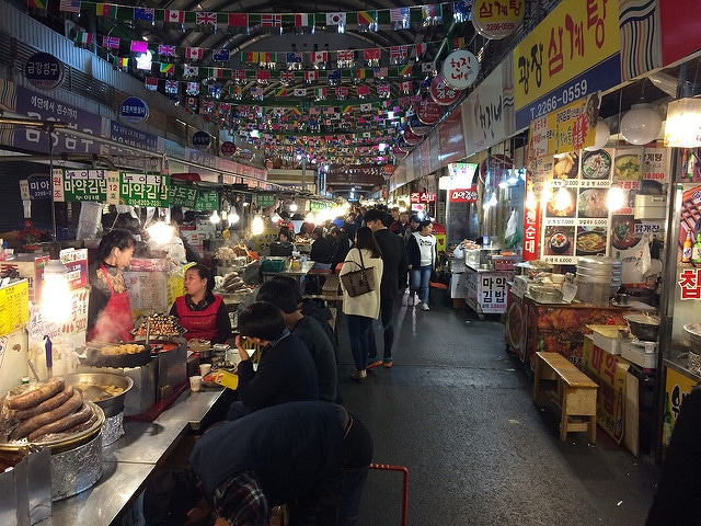 Рынок Кванчжан - достопримечательности Сеула