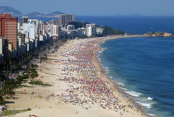 Пляж Ипанема - достопримечательности Рио-де-Жанейро