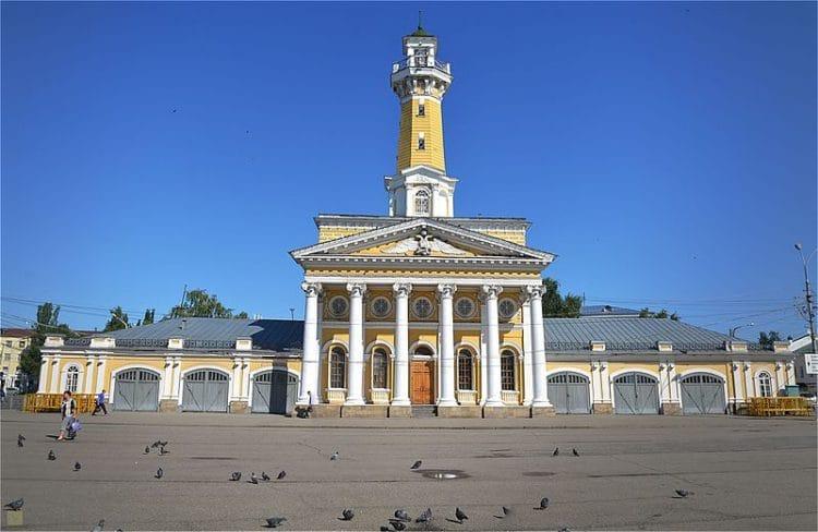 Пожарная каланча - достопримечательности Костромы